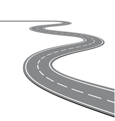 creative winding curved road vector image