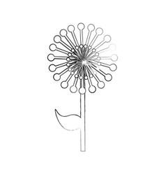 Cute exotic flower dandelion vector