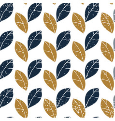 decorative botanical seamless pattern with leaves vector image