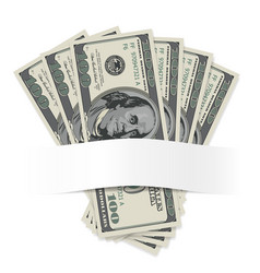 Dollars on a white background for design vector