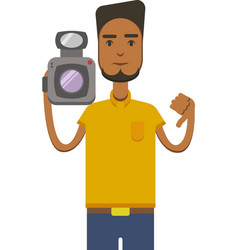 drawing of an africo american man with vector image