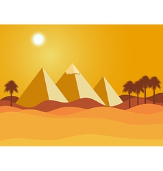 Egyptian pyramids vector image