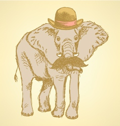 Elephant Hat vector image