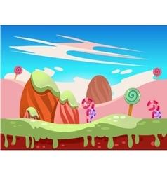 fantasy sweet food land vector image