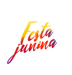 Festa junina letterina with colorful effect vector
