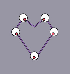 Flat icon design collection atom scheme vector