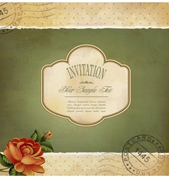 Grunge vintage invitation vector