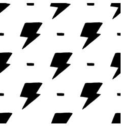 Hand drawn doodle thunder backdrop seamless vector