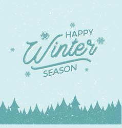 Happy winter season vector