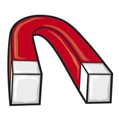 horseshoe magnet vector image