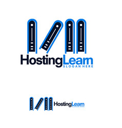 hosting learn logo designs colorful hosting and vector image