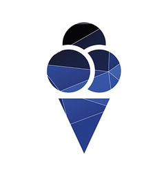 Ice cream icon Abstract Triangle vector