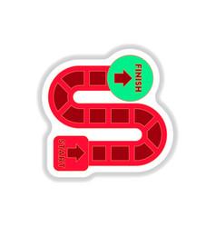 In paper sticker style board vector