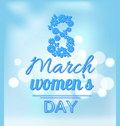 International womans day holiday on eight of march vector