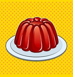 Jelly dessert pop art vector