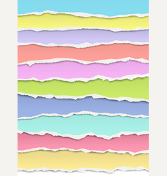layered torn bright pastel colors paper with soft vector image