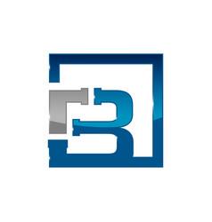 letter b plumbing company logo concept vector image
