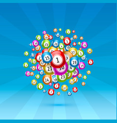 lottery game balls with numbers vector image