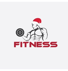 Man fitness silhouette character with merry vector