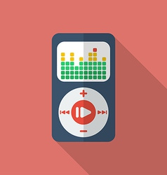 Media player icon Modern Flat style with a long vector image