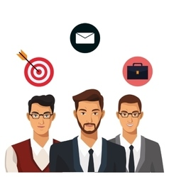Men group teamwork business vector