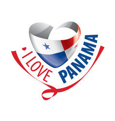 National flag panama in shape a vector