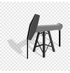 Oil pump isometric icon vector