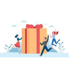 Online reward receive gift customers vector