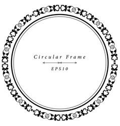 ornamental antique frame in circular shape vector image