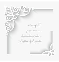 Paper corners vector