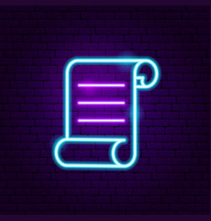 paper neon label vector image