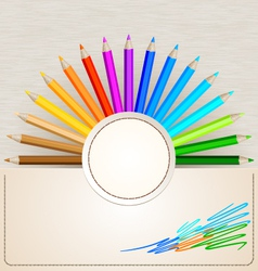 Pencil Colors vector image