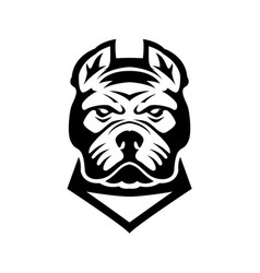Pitbull head design element for logo label sign vector