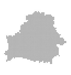 Pixel map of belarus dotted map of belarus vector