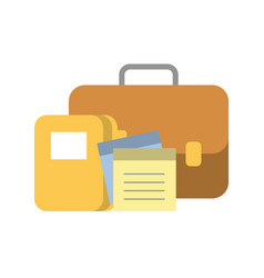 portfolio briefcase with document and folder vector image