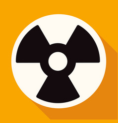 radiation symbol on white circle with a long vector image
