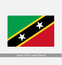 Saint kitts and nevis flag national country flag vector