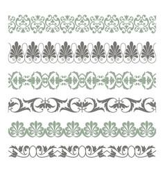 seamless borders vector image