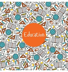 Seamless pattern Education vector image