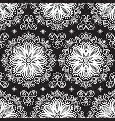 seamless pattern mehndi background with flowers vector image
