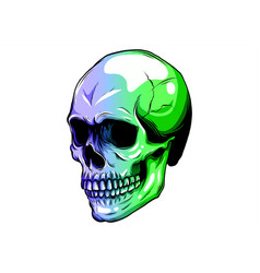 skull in color paint design vector image