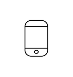smartphone icon black vector image
