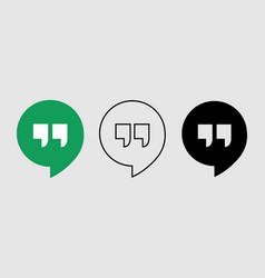 Social media icon set for google hangout in vector