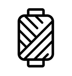 spool thread icon in outline style sewing vector image