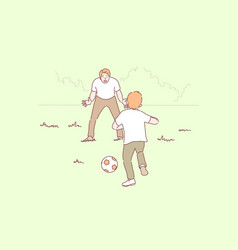 sport football family fatherhood childhood vector image