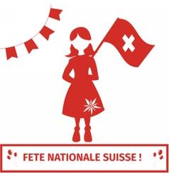 Swissgirl vector