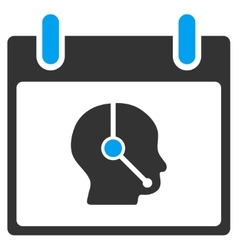 Telemarketing Operator Calendar Day Toolbar vector