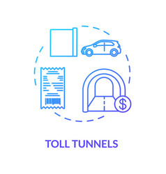 Toll tunnels concept icon vector