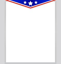 Usa symbol flag corner frame vector