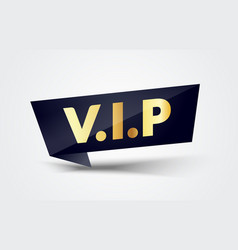vip label modern web banner very important people vector image